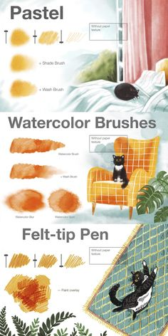Book Illustration, Graphic Design Illustration, Digital Illustration, Digital Painting Tutorials, Digital Art Tutorial, Doodle Drawing, Paper Drawing, Brosses Photoshop, Digital Art Beginner