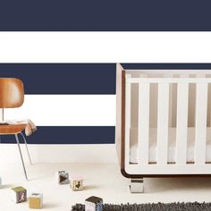 Want a bold look in the nursery? Go stripes! These amazingly chic removable wall tiles are more convenient than traditional wallpaper. #PNshop