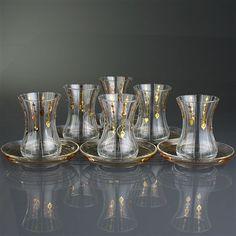 Mızrak Altın 12 Parça Çay Takımı