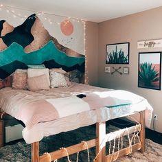 Bedroom loft, bedroom inspo, home bedroom, master bedroom interior, house r Master Bedroom Interior, Home Bedroom, Bedroom Decor, Wall Decor, Bedroom Inspo, Bedroom Loft, Bedroom Wall, Summer Bedroom, Cute Room Decor