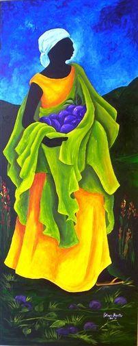 "Patricia Brintle, ""Season - Cayemite"" | Acrylic on Canvas | $6,400 | Source: www.art-mine.com/... | Agora Gallery | Contemporary Fine Art | NYC, NY"