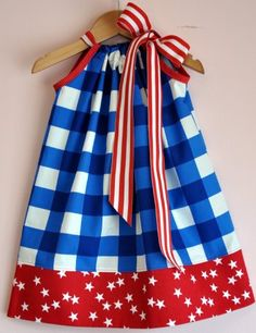 4th of July Pillowcase Dress - Children's Fourth of July Clothing - Cassie's Closet