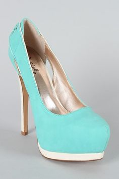 turquoise qupid tatum-27 pointy toe pumps. yes.