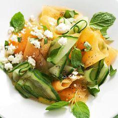 cantaloupe cucumber salad