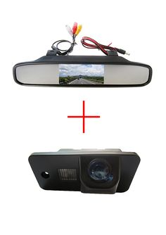 Color CCD Car rear view camera for AUDI A3 S3 A4 S4 A6 A6L S6 A8 S8 RS4 RS6 Q7  4.3 Inch Rearview Mirror LCD Monitor for DVD/VCR #Affiliate