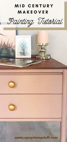 Upcycle Guide for a mid-centruy modern chest of drawers turned pink. Includes materials list and tips for using Frenchic Paint to upcycle your drawers. Paint Furniture, Furniture Projects, Furniture Makeover, Upcycled Furniture, House Projects, Chest Of Drawers Upcycle, Modern Chest Of Drawers, Cool Diy Projects, Project Ideas