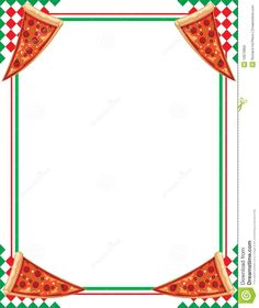[ Free Pizza Border Clip Art 17 ] - Best Free Home Design Idea & Inspiration Cool Writing, Writing Paper, Pizza Names, Border Templates, Mini Pizzas, Pizza Restaurant, Box Tops, Borders For Paper, Pizza Party