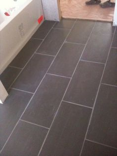 Master Bathroom Floor Tiles. | Needs One More Wash Down And U2026 | Flickr