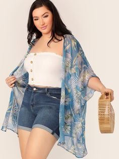 To find out about the Plus Tropical Print Kimono at SHEIN, part of our latest Plus Size Kimonos ready to shop online today! Curvy Outfits, Plus Size Outfits, Fashion Outfits, Fashion Fashion, Fashion Ideas, Casual Outfits, Vintage Fashion, Curvy Women Fashion, Plus Size Fashion