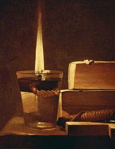 Image: Georges de la Tour - The night light, 1630-35 (detail of 93782)