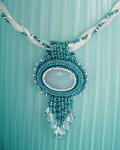 Beaded necklace pendant.