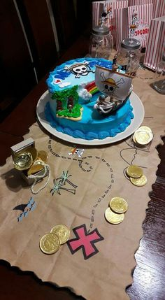 One Piece party! 21st Birthday Decorations, Birthday Cake Decorating, Birthday Party Themes, One Piece Birthdays, Simpsons Cake, One Piece Theme, Anime Cake, Hubby Birthday, Fiesta Party