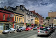 John's, lined with fab boutiques! Newfoundland Canada, Newfoundland And Labrador, Wonderful Places, Beautiful Places, Places Ive Been, Places To Go, Colourful Buildings, Travel With Kids, The Neighbourhood