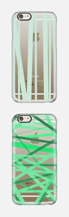 Pale Mint Stripes Transparent backgroundArtist Collection iPhone 6 Phone Case by  Lisa Argyropoulos @casetify, In Stock (Free Delivery Worldwide) www.casetify.com   Graphics   Painting  