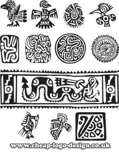 aztec symbols useful for logo design inspiration www.cheap-logo-design.co.uk #aztecsymbol #aztec #incasymbols
