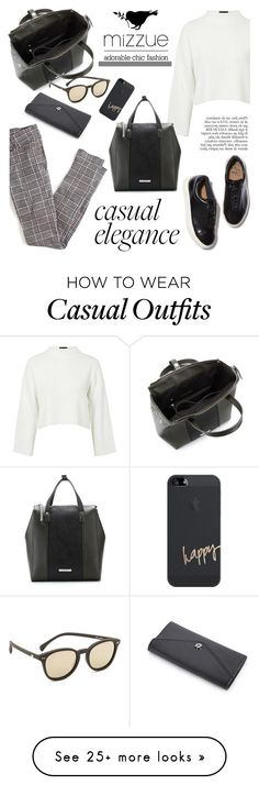 """Casual elegance/Mizzue Accessories"" by helenevlacho on Polyvore featuring Topshop, Eytys, Anja, Casetify, Le Specs and mizzue"