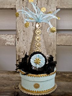 Glittered Party Hat Little Gift Box on Etsy, $24.00
