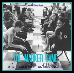 The marker game! A fun review game for Spanish class