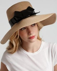 Kate Spade hat. Bring some WOW to the beach party. With all these great hats, no excuse for shading you face while in the sun.  #moremagazine