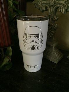 Custom Powder Coated Yeti, RTIC Cups, Yeti, NFL yeti, Star Wars yeti, Star Wars, Storm Trooper, Storm Trooper yeti by POWDERCOATINGSOLUTIO on Etsy https://www.etsy.com/listing/476526452/custom-powder-coated-yeti-rtic-cups-yeti