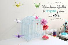 Hoy te enseño cómo hacer unas preciosas y coloridas grullas de origami y armar con ellas un móvil para decorar cualquier estancia de tu hogar! Parenting, Projects, Baby, Ideas, Home Decor, How To Make, Paper Ornaments, Art Rooms, Appliques