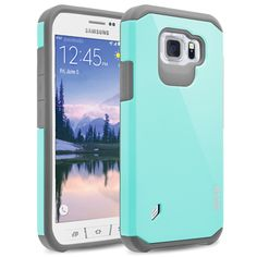 Amazon.com: S6 Active Case, Galaxy S6 Active Case, RANZ® Grey with Aqua Blue Hard Impact Dual Layer Shockproof Bumper Case For Samsung Galaxy S6 Active G890: Cell Phones & Accessories
