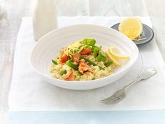 LEMON SCENTED SMOKED SALMON RISOTTO | Fodmapped – for you!