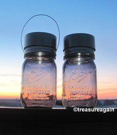2 Purple Solar Jars New Ball 100th Anniversary   http://etsy.me/14SHP6k by treasureagain