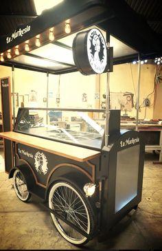 Food Stall Design, Food Cart Design, Food Truck Design, Kiosk, Rustic Candy Bar, Velo Retro, Mobile Food Cart, Mini Cafe, Bike Food
