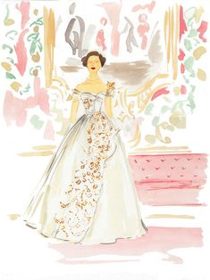 Virginia Johnson, Princess Margaret, Fairy Princesses, Gold Wood, Sign Printing, Rapunzel, Christian Dior, Framed Art, Ball Gowns