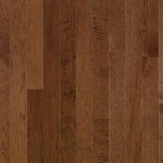 The Bruce Plymouth Brown Hickory in. Thick x in. Wide x Random Length Solid Hardwood Flooring 20 sq. per case is durable and makes a great addition to your home. It features micro-beveled edges and square ends. Wood Flooring Options, Diy Wood Floors, Solid Wood Flooring, Engineered Hardwood Flooring, Flooring Ideas, Bruce Hardwood Floors, Bruce Flooring, Hardwood Floor Colors, Plymouth