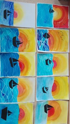 Posteingang - E-Mail-Liste - Posteingang – E-Mail-Liste – Posteingang – E-Mail-Liste – - Kindergarten Art Lessons, Art Lessons Elementary, Square One Art, Fall Arts And Crafts, Art Rubric, 2nd Grade Art, Preschool Art, Art Lesson Plans, Art Club