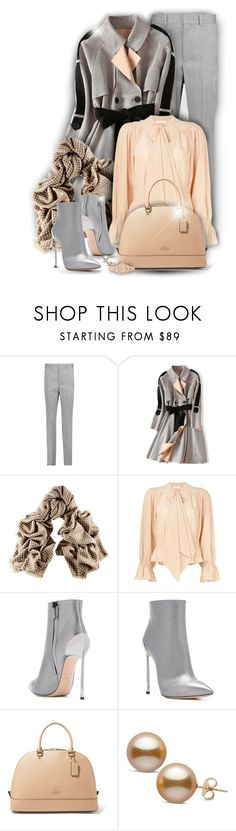 """""""Houndstooth print!"""" by asia-12 ❤ liked on Polyvore featuring Isabel Marant, Black, Chloé, Casadei, Coach and Versus"""