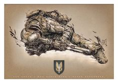 Traditional media, ink pens, water color, white pencil and white ink + Photoshop edits. Sas Special Forces, Military Special Forces, Military Gear, Military History, Military Drawings, Templer, Military Pictures, Lion Tattoo, Ink Illustrations