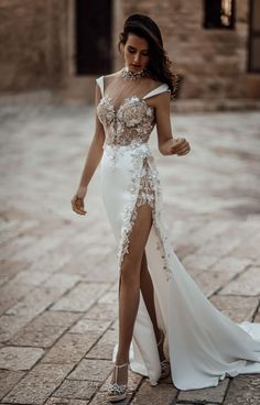 Spring 2020 Wedding Dress Trends - High Neckline like our glamorous Galia Lahav column wedding dress made of stretch silk satin with a sheer draped high neck and a corset framed with mini tailored silk cap sleeves. Wedding Dress Trends, Sexy Wedding Dresses, Perfect Wedding Dress, Bridal Dresses, Wedding Gowns, Post Wedding, Lace Wedding, Wedding Ideas, Kleidung Design