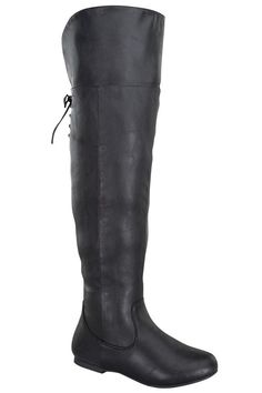 BLACK FUAX LEATHER TALL OVER-KNEE FLAT BOOTS,Women's Boots-Sexy Boots,Heel Boots,Over The Knee Boots,Platform Boots,Knee High Boots,High Heel Boots,Rider Boots,Combat Boots,Gladiator Boots,Suede Boots,Riding Boots,Flat Boots,Motorcycle Boots