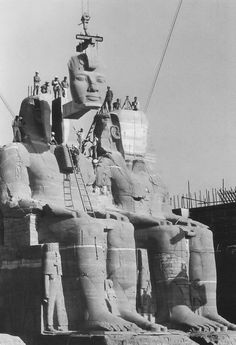 Saving Abu Simbel (Egypt 1965)    Photographer: Georg Gerster, CH ... And a remarkable feat of engineering