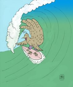 The Surfer-Hand Turkey #4 ©Carolyn Watson Dubisch