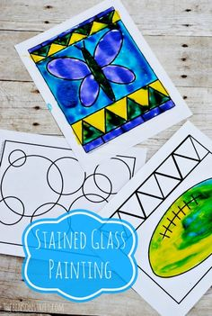 Perfect summer craft for kids! Kids Stained Glass Painting at www.thebenesonstreet.com