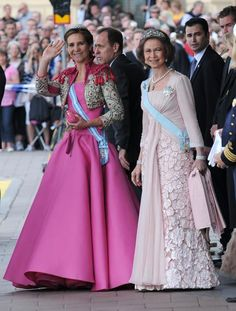 Royal Family of Spain   Queen Sofia and Infanta Elena of Spain
