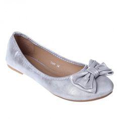 Balerini cu funda Destiny silver - Ballerina flats Ballerina Flats, Chanel Ballet Flats, Destiny, Silver, Shoes, Fashion, Moda, Zapatos, Shoes Outlet
