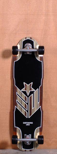 "Earthwing 37"" Carbon Hoopty Longboard Complete"