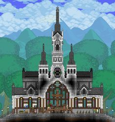Terraria House Design, Terraria House Ideas, Minecraft House Designs, Minecraft Houses, Minecraft Ideas, Architecture Plan, Pixel Art, Terrarium, Cool Art