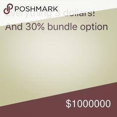 Everything 3 dollars! 30% bundle Bags