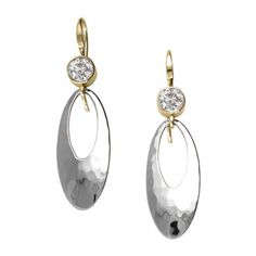 Silver and 14kt Gold Cleo Gemstone Earrings
