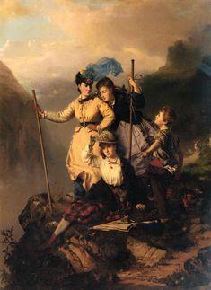 Mountain Climbers   Charles Edouard Boutibonne   Oil Painting #landscapepaintings #mountainpaintings