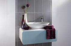 The Brighton collection is made up of contemporary ceramic wall tiles with a gloss finish and linear design with coordinating floor tiles and borders. This grey tile works perfectly with the brighter colours in the range. Grey Bathroom Wall Tiles, Bathroom Wall Coverings, White Wall Tiles, Bathroom Decals, Gray And White Bathroom, Grey Tiles, Ceramic Wall Tiles, Wall And Floor Tiles, Grey Bathrooms
