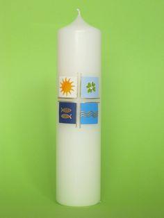 Taufkerzen - Taufkerze Nr. 308-B - ein Designerstück von claudia-slanzi bei DaWanda