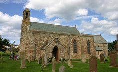 St Mary's Church - oldest building on Holy Island - only building that retains work from Saxon period - likely that St Aidan worshipped on this site in 635 AD. Northumberland