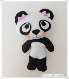 Panda em feltro